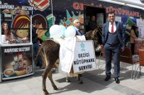 GEZİCİ KÜTÜPHANE - Erzurum'da Eşekli, At Arabalı Kütüphane Haftası Etkinliği