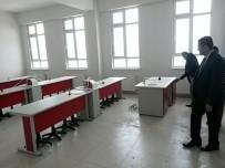 OKUL BİNASI - Kaymakam Akdaş, Yeni Okul Binasını İnceledi