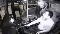 BIÇAKLI SALDIRI - Otobüs şoförünün boğazına bıçak dayadı