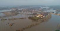 MEHMET MÜEZZİNOĞLU - Edirne'de 'Taşkın Kabusu' Havadan Görüntülendi