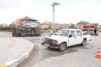 Karaman'da Kamyonetler Çarpıştı Açıklaması 2 Yaralı