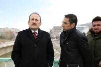ÇORUH - Vali Pehlivan, Çoruh Nehri Şehir Geçiş Projesi Çalışmalarını Yerinde İnceledi