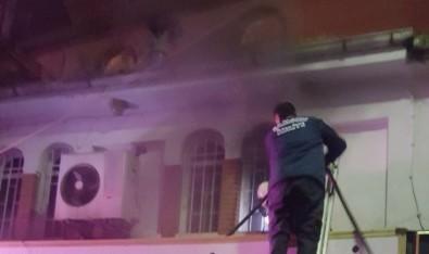 Bafra'da İş Yeri Yangını