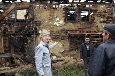 Başkan Bozkurt Yanan Binayı İnceledi