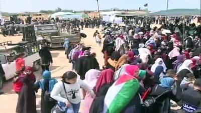 Filistinlilerin 'Büyük Dönüş Yürüyüşü' Başladı