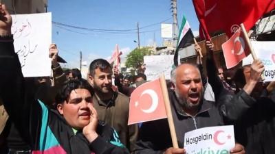 İdlibliler Rejimin Saldırılarına Karşı Türkiye'den Yardım İstedi