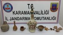 Karaman'da Durdurulan Otomobilde Tarihi Eser Ele Geçirildi