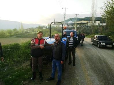 Kuyucak'tan Çalınan Traktör, Bozdoğan'da Bulundu