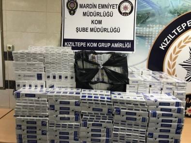 Mardin'de 7 Bin 110 Paket Kaçak Sigara Ele Geçirildi