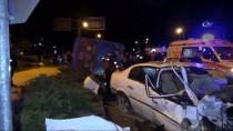 Niğde'de Halk Otobüsü İle Otomobil Çarpıştı Açıklaması 2'Si Ağır 3 Yaralı