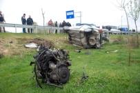 Tokat'ta Otomobil Tarlaya Uçtu Açıklaması 2 Ölü