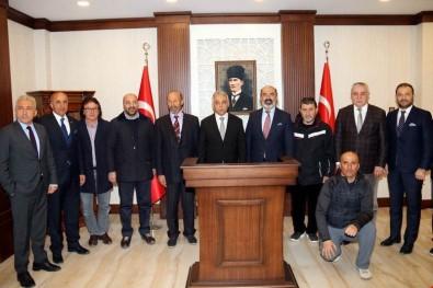 Türkiye Kayak Federasyonu Başkanı Yarar'dan Vali Toprak'a Ziyaret