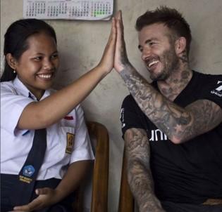UNICEF İyi Niyet Elçisi David Beckham Endonezya'da