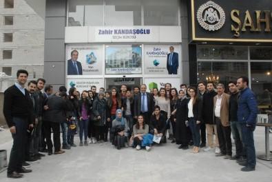 Van YYÜ Öğrencilerinden VATSO Adayı Kandaşoğlu'na Destek Ziyaret