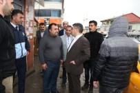 KORSAN TAKSİCİLER - Varto Kaymakamı Ve Belediye Başkan Vekili Çetin'den Sanayi Ve Taksici Esnafına Ziyaret