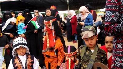 100 Yaşındaki Filistinli Nine 'Toprak' Yürüyüşünün Sembolü Oldu