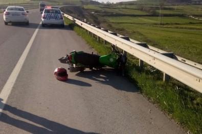 Bafra'da Kaza Açıklaması 1 Yaralı