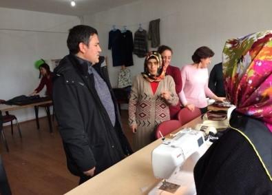 Çıldır'da Kaymakamı İmamoğlu, Dikiş- Nakış Kursunu Ziyaret Etti