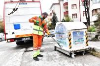 MAMAK BELEDIYESI - Günde 100 Konteyner Dezenfekte Ediliyor