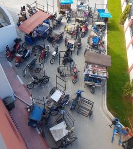 Mersin'de Tescilsiz Ve Plakasız Motorlar Toplatılıyor