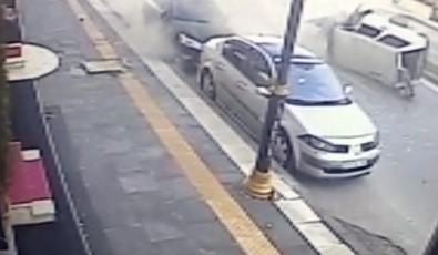 Sivas'taki Feci Kaza Güvenlik Kamerasına Yansıdı