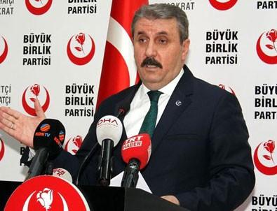 BBP lideri Mustafa Destici'den 'Cumhur İttifakı' açıklaması