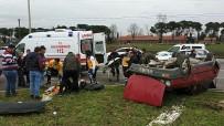 HÜSEYIN ÇALıŞKAN - Maça Giderken Kaza Geçirdiler Açıklaması 1'İ Ağır 2 Yaralı