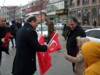 ALPARSLAN TÜRKEŞ - MHP Erzurum İl Başkanlığı'ndan Bayrak Dağıtımı