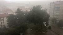 Mudanya'da Şiddetli Yağmur Ve Dolu Etkili Oldu