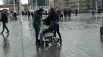 SİVİL POLİS - Erkek Şiddetine Engelli Vatandaş Müdahale Etti