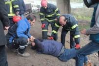 KOCAELI ÜNIVERSITESI - Hafif Ticari Araç Şarampole Uçtu Açıklaması 1 Yaralı
