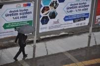 METEOROLOJI GENEL MÜDÜRLÜĞÜ - Kars'ta Yüksek Kesimlere Kar, Kent Merkezine Yağmur Yağdı
