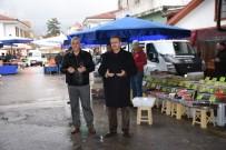 BAZLAMA - Kızılcahamam Belediye Başkanı Güney, Pazarı Ziyaret Etti