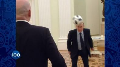 Putin ve Infantino'dan Kremlin'de futbol şovu