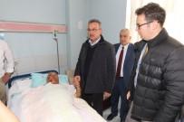 HASTA ZİYARETİ - Başkan Köşker'den Taziye Ve Moral Ziyareti