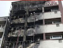 YANGıN YERI - İzmir'de otel alev alev yandı