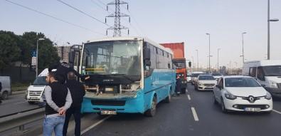 İstanbul'da TIR, halk otobüsüne çarptı! Çok sayıda yaralı var...