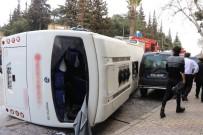 GIRNE - Kahramanmaraş'ta Freni Patlayan Halk Otobüsü Yan Yattı Açıklaması 29 Yaralı