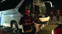 OTOBÜS ŞOFÖRÜ - Kırıkkale'de Otobüs İle Tır Çarpıştı Açıklaması 1 Ölü, 1 Yaralı