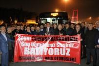 HALK OTOBÜSÜ - Özel Halk Otobüsü İşletmecilerinden 15 Temmuz Şehitler Köprüsü Çıkışında Eylem Yaptı