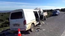 BADEMLI - Çanakkale'de İşçi Servisiyle Kamyon Çarpıştı Açıklaması 1 Ölü, 9 Yaralı