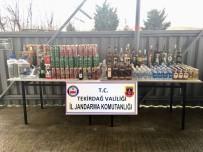 SAHTE İÇKİ - Tekirdağ'da Bin 225 Litre Kaçak Ve Sahte İçki Ele Geçirildi