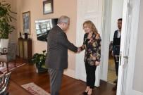 LOKANTACILAR ODASI - Vali Güvençer, Türkiye'nin İlk Kadın Lokantacılar Odası Başkanını Ağırladı