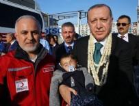 CİLVEGÖZÜ SINIR KAPISI - Cumhurbaşkanı Erdoğan, Doğu Guta'nın simgesi Kerim bebekle buluştu