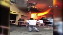 NEW JERSEY - ABD'de Türk Restoranında Yangın Açıklaması Alevlerden Böyle Kaçtılar