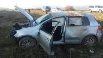 KıRELI - Konya'da Otomobil Takla Attı. 4 Yaralı