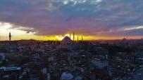 GALATA - (Özel)Galata Kulesi Gün Batımı İle Havadan Görüntülendi