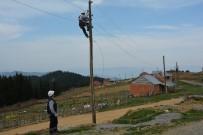 Fırtına Yaylada Elektrik Hatlarına Büyük Zarar Verdi