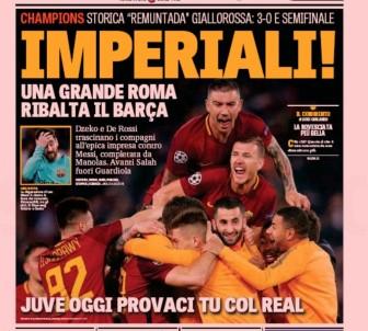 Roma'nın Barcelona zaferi İtalyan basınında