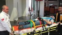 Karaman'da İskeleden Düşen İşçinin Kafatası Kırıldı